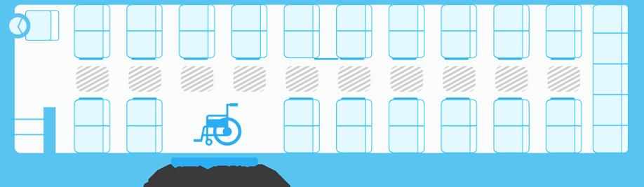 ガーラリフト54車椅子1台の場合の座席表