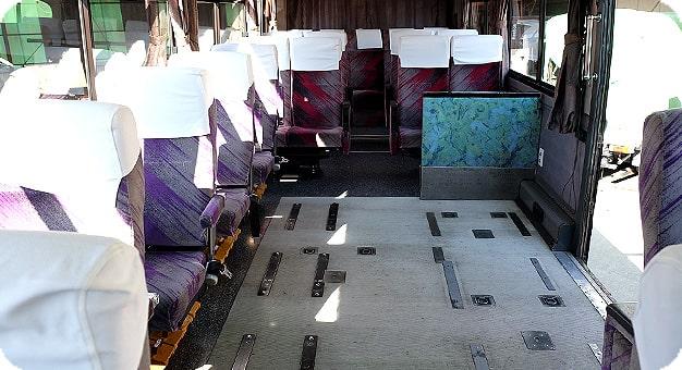 ガーラリフト付き観光バス45人乗り内装
