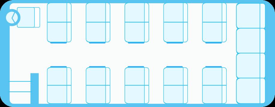ガーラ24中型バス座席表